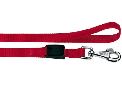 Dog Adjustable Lead & Collar SET nylon with clip closure and snap-hook (red bordeaux)